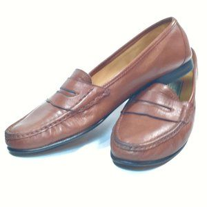 Cole Haan Penny Loafers Brown Italian Size 9.5 B